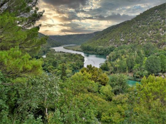 Fluß in Kroatien