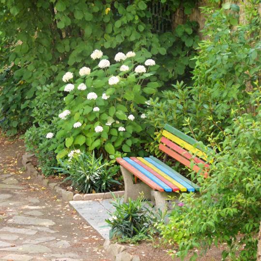 Foto Garten Parkbank