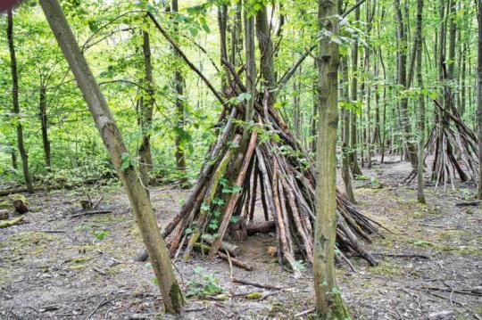 Tipi im Wald Düsseldorf Foto