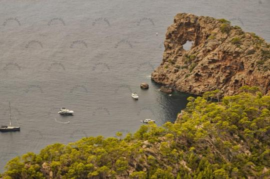 Sa Foradada Mallorca Lochfelsen Foto