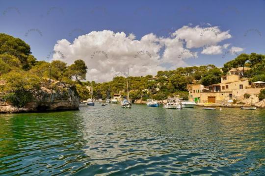 Hafen Bucht von Cala Figuera Foto Bild